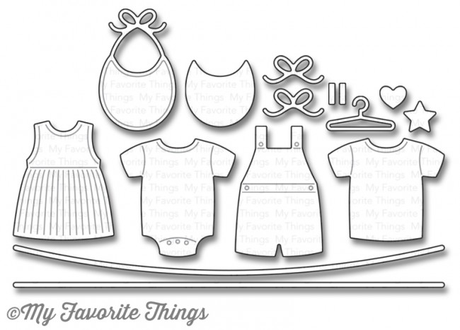 My Favorite Things - Die-namics Bundle of Baby Clothes