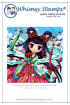 Whimsy Stamps - Asian Beauty - Art by MiRan