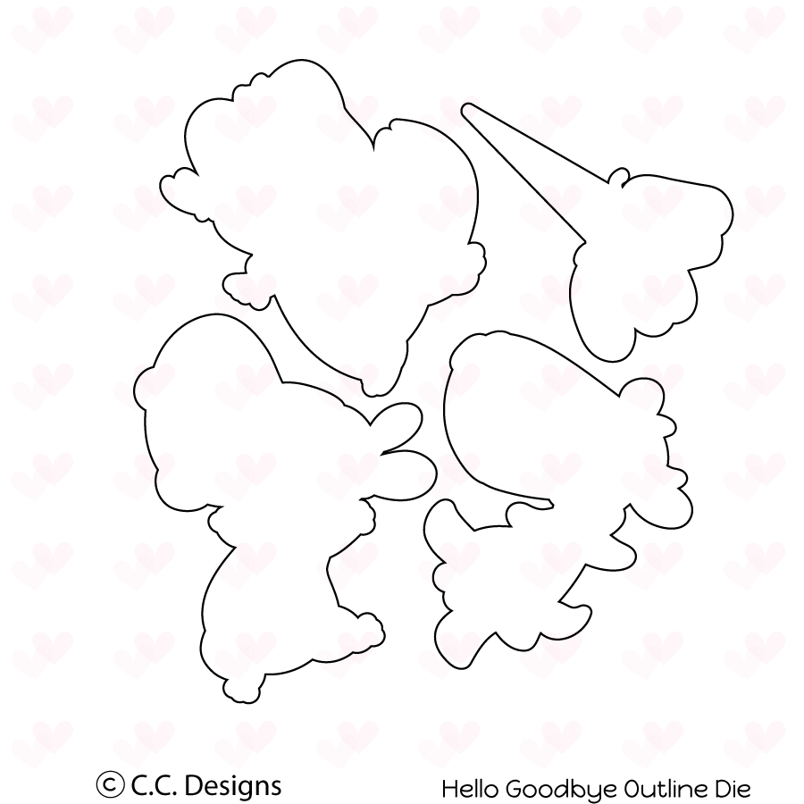 *NEW* - CC Designs - Hello Goodbye Outline Die