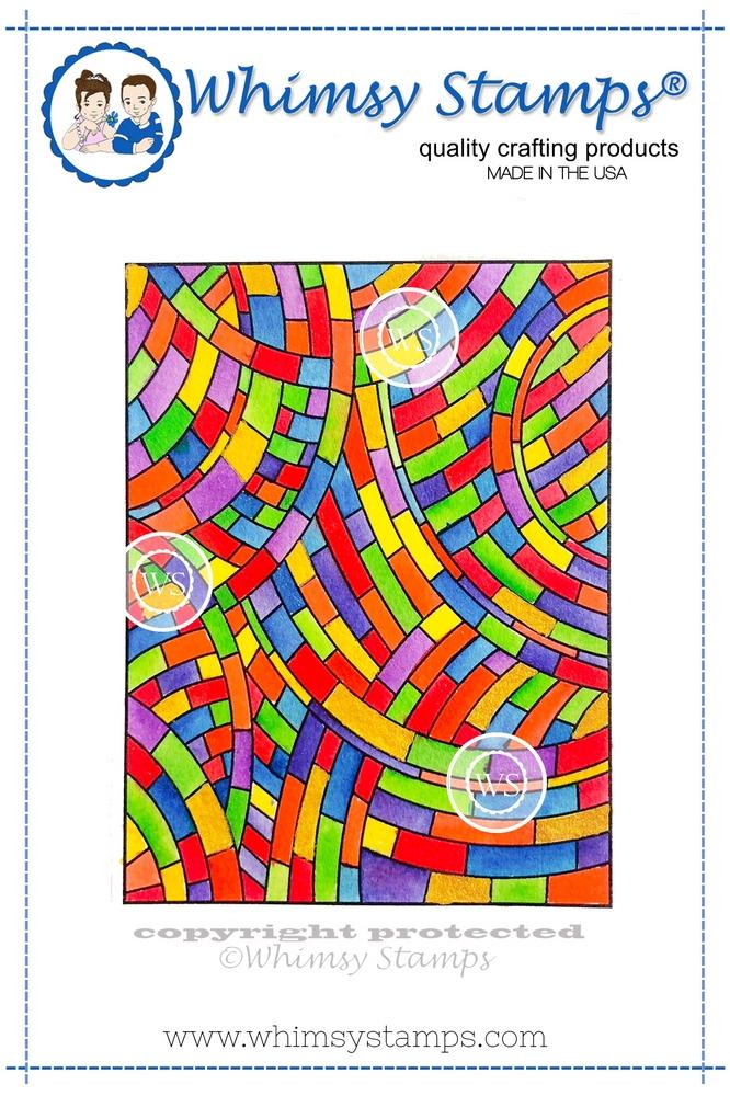 *NEW* - Whimsy Stamps - Stained Glass Mosaic