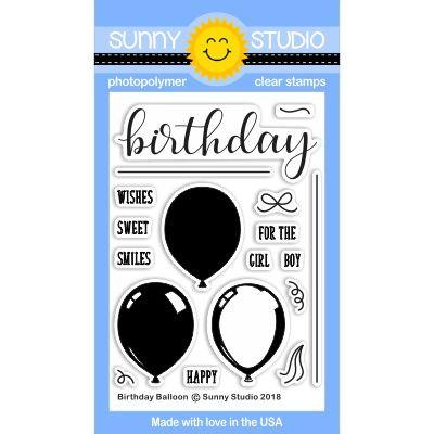 *NEW* - Sunny Studio - Birthday Balloon Stamps