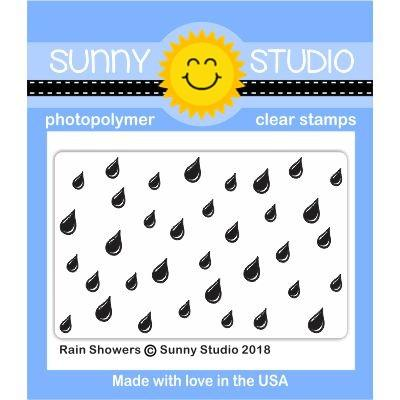 *NEW* - Sunny Studio - Rain Showers Stamp