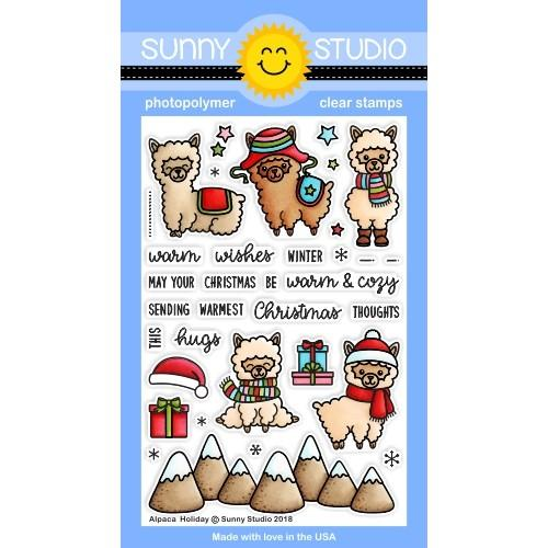 *NEW* - Sunny Studio - Alpaca Holiday Stamps