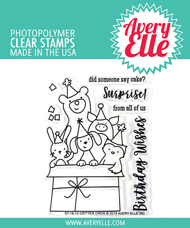 *NEW* - Avery Elle - Critter Crew Clear Stamps