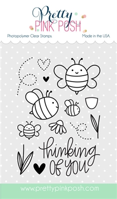 *NEW* - Pretty Pink Posh - Bee Friends stamp set