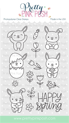 Pretty Pink Posh - Bunny Friends stamp set