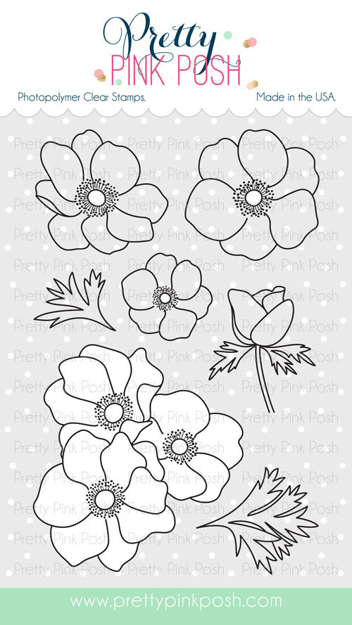 Pretty Pink Posh - Anemonies stamp set