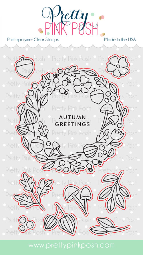 *NEW* - Pretty Pink Posh - Autumn Wreath stamp set