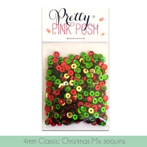 *NEW* - Pretty Pink Posh - 4mm Classic Christmas Sequins Mix