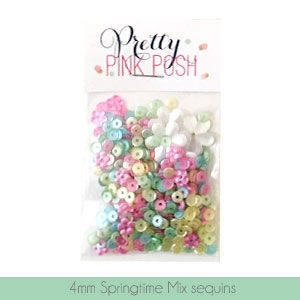 Pretty Pink Posh - Springtime Sequins 4mm