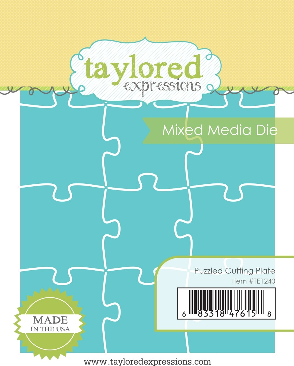 Taylored Expression - Puzzled Cutting Plate - Mixed Media Die