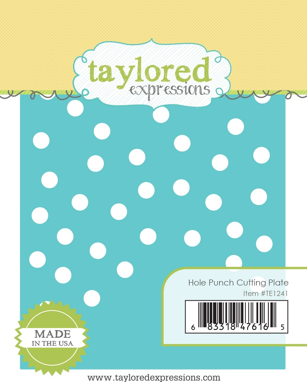 *NEW* - Taylored Expression - Hole Punch Cutting Plate