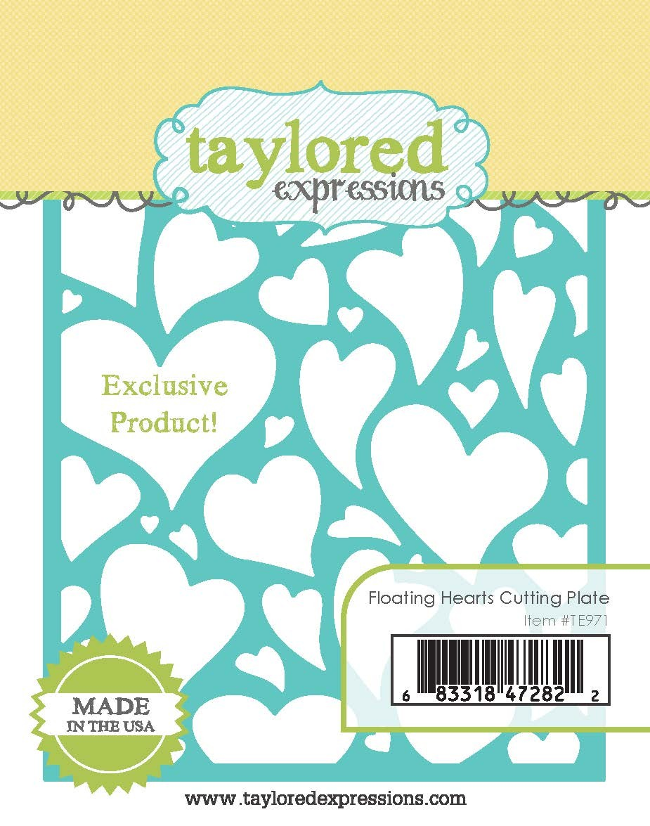 Taylored Expressions - Floating Hearts Cutting Plate