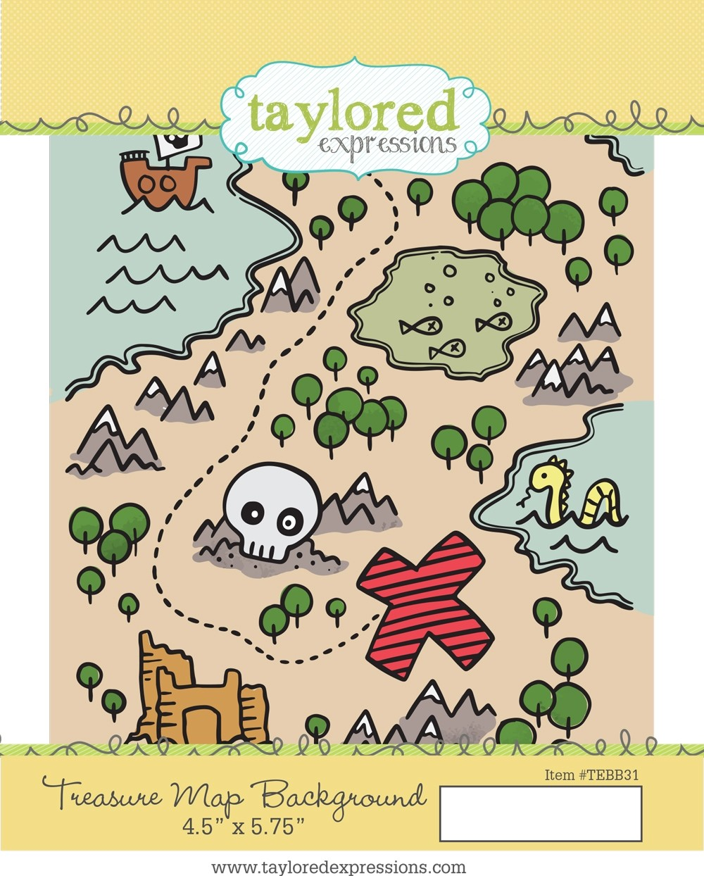 *NEW* - Taylored Expression - Treasure Map Background