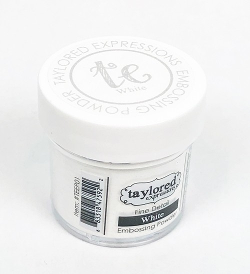 Taylored Expression - TE Fine Detail Embossing Powder - White