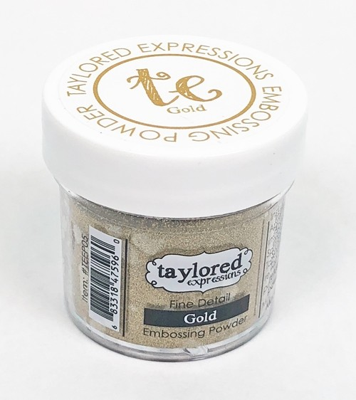 Taylored Expression - TE Fine Detail Embossing Powder - Gold
