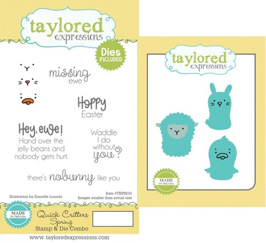 *NEW* - Taylored Expression - Quick Critters - Spring Stamp & Die Combo