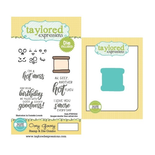 *NEW* - Taylored Expression - Ooey Gooey Stamp & Die Combo