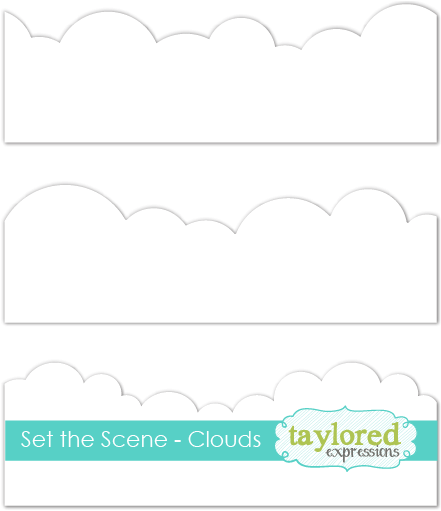 *NEW* - Taylored Expression - Set the Scene - Clouds Stencil Strips