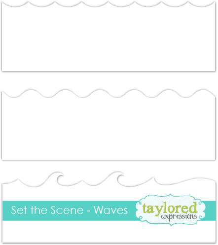 *NEW* - Taylored Expression - Set the Scene - Waves Stencil Strips