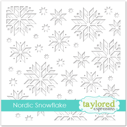 *NEW* - Taylored Expression - Nordic Snowflake Stencil