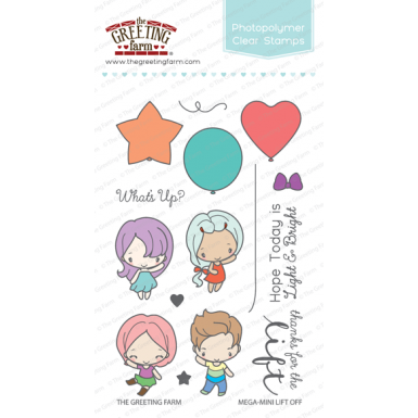 The Greeting Farm - Mega-Mini Lift Off - Clear Stamp Set
