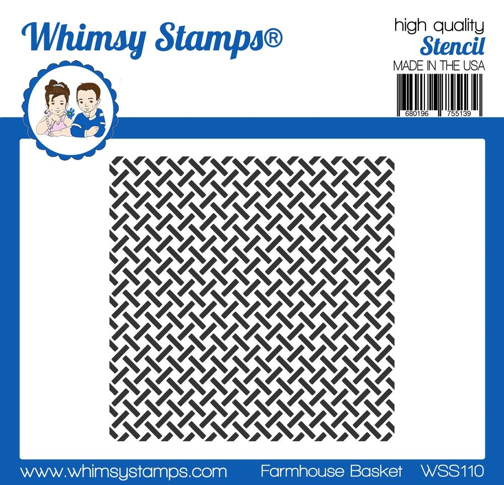 *PRE-ORDER* - Whimsy Stamps - Farmhouse Basket Stencil