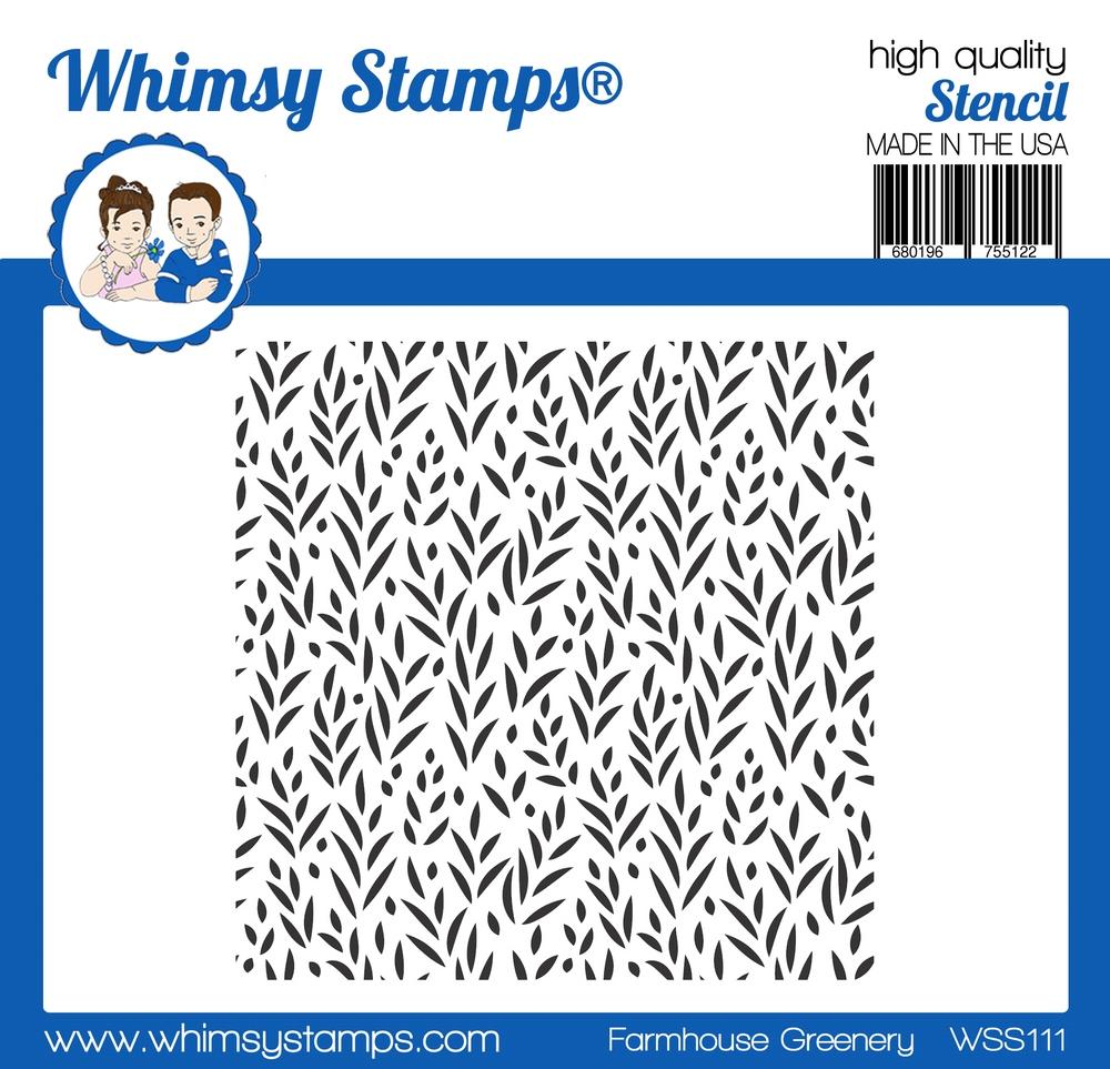 *PRE-ORDER* - Whimsy Stamps - Farmhouse Greenery Stencil