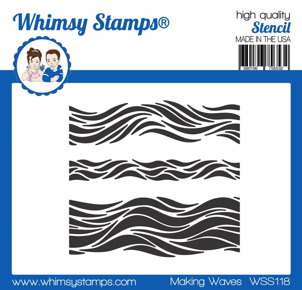 Whimsy Stamps - Making Waves Stencil
