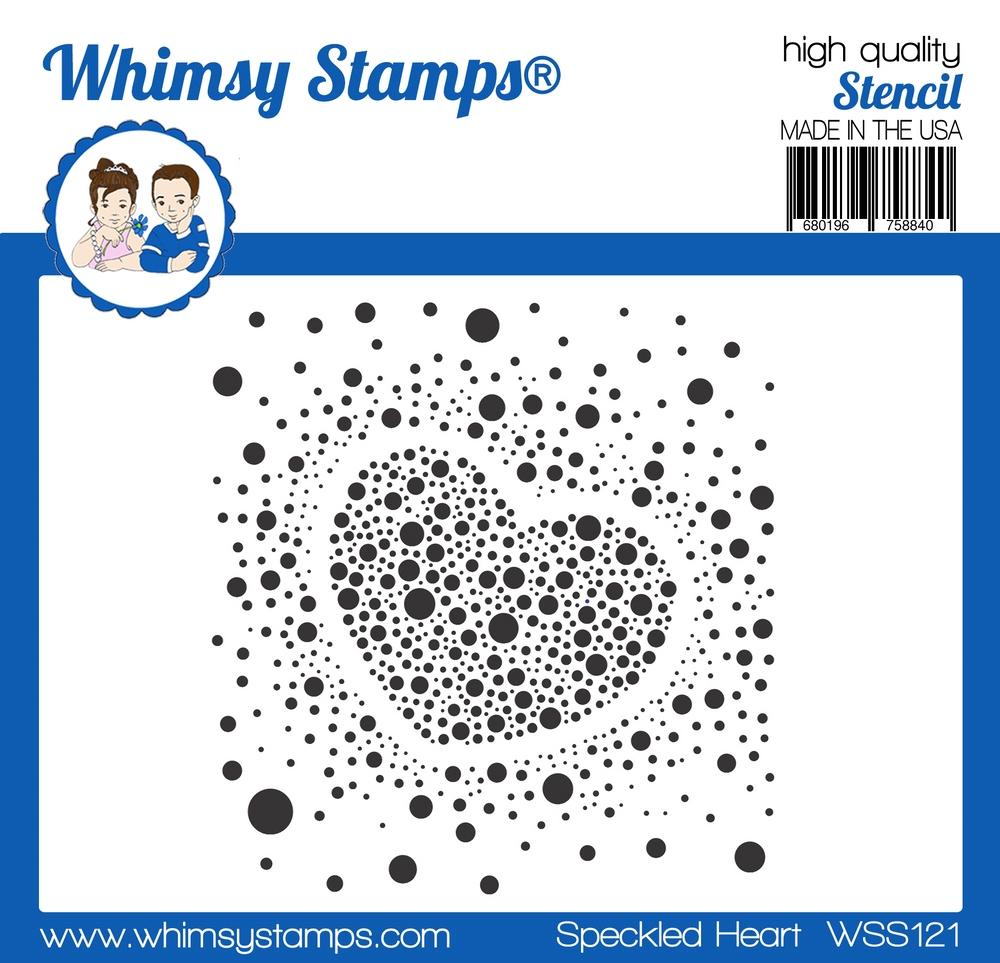 *NEW* - Whimsy Stamps - Speckled Heart Stencil