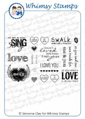*** Whimsy Stamps - All You Need is Love - SC Design Collection