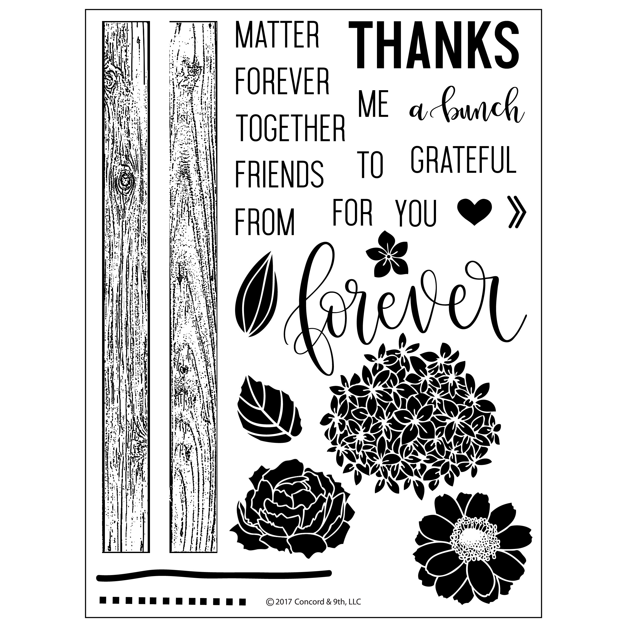 Concord & 9th - Petals & Pallets Stamp Set