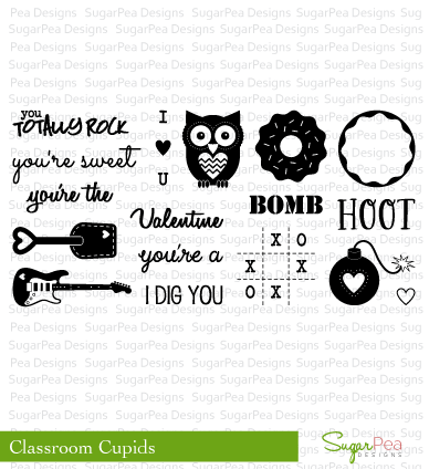 ##SugarPea Designs - Classroom Cupid Stamp Set