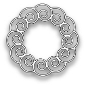 **XMAS* Poppystamps - Curly Wreath