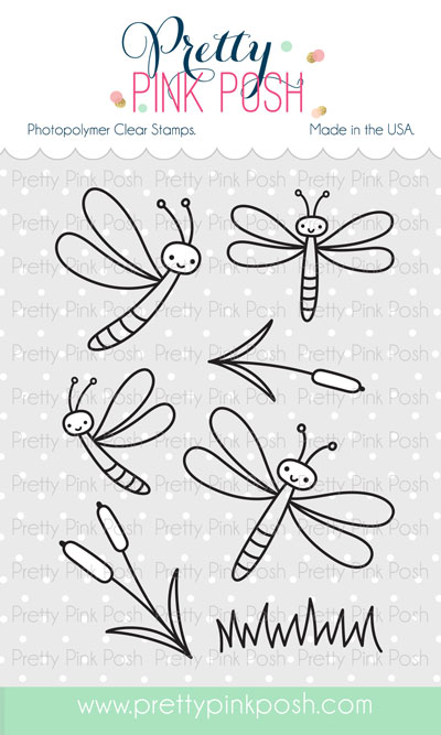 *NEW* - Pretty Pink Posh - Darling Dragonflies stamp set