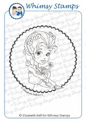 ###Whimsy Stamps - Miss Apple Blossom Vignette - Elisabeth Bell
