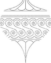 Drop Ornament Outline Stamp