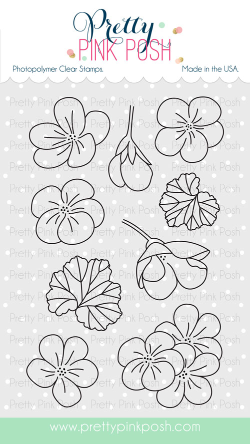 *NEW* - Pretty Pink Posh - Geraniums stamp set