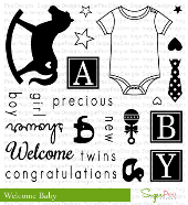 ##SugarPea Designs - Welcome Baby Stamp Set