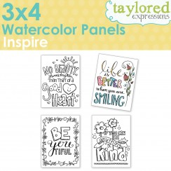 Taylored Expressions - 3x4 Watercolor Panels - Inspire