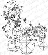 ** Whimsy Stamps - Tilly's Flower Cart - Elisabeth Bell