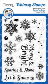 *XMAS* Whimsy Stamps - Sparkle and Shine - Clear Stamps