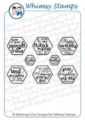 *WS* Whimsy Stamps - Everyday Honeycomb Sentiments - Sentiments Collection