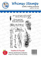 *WS* Whimsy Stamps - Feather and Flourish Sentiments - SC Design Collection