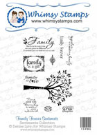 *WS* Whimsy Stamps - Family Forever Stamp Set - Sentiments Collection
