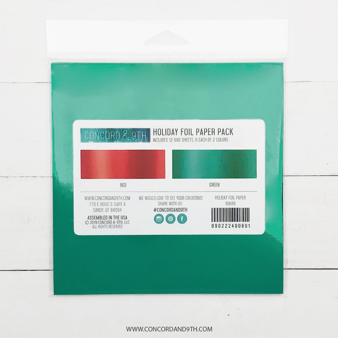 *NEW* - Concord & 9th - Holiday Foil Paper Pack (red/green)