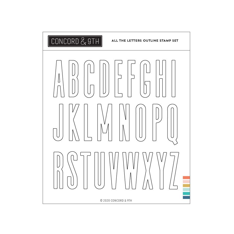 *NEW* - Concord & 9th - All the Letters Outline Stamp Set
