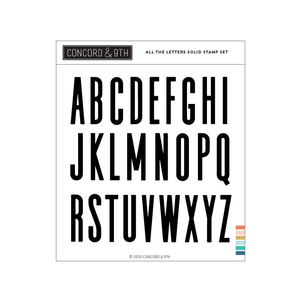 *NEW* - Concord & 9th - All the Letters Solid Stamp Set