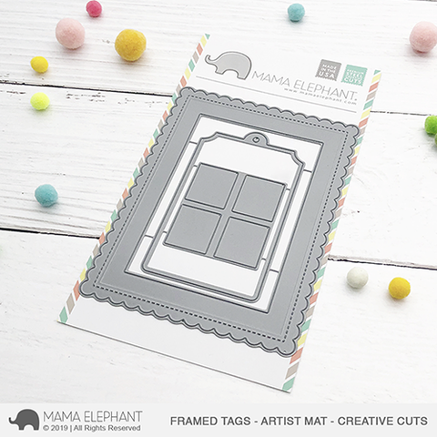 *OFFER OF THE WEEK* - Mama Elephant - Framed Tags - Artist Mat - Creative Cuts (16/6/19)