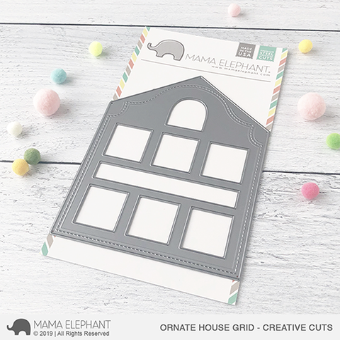 *NEW* - Mama Elephant - Ornate House Grid - Creative Cuts